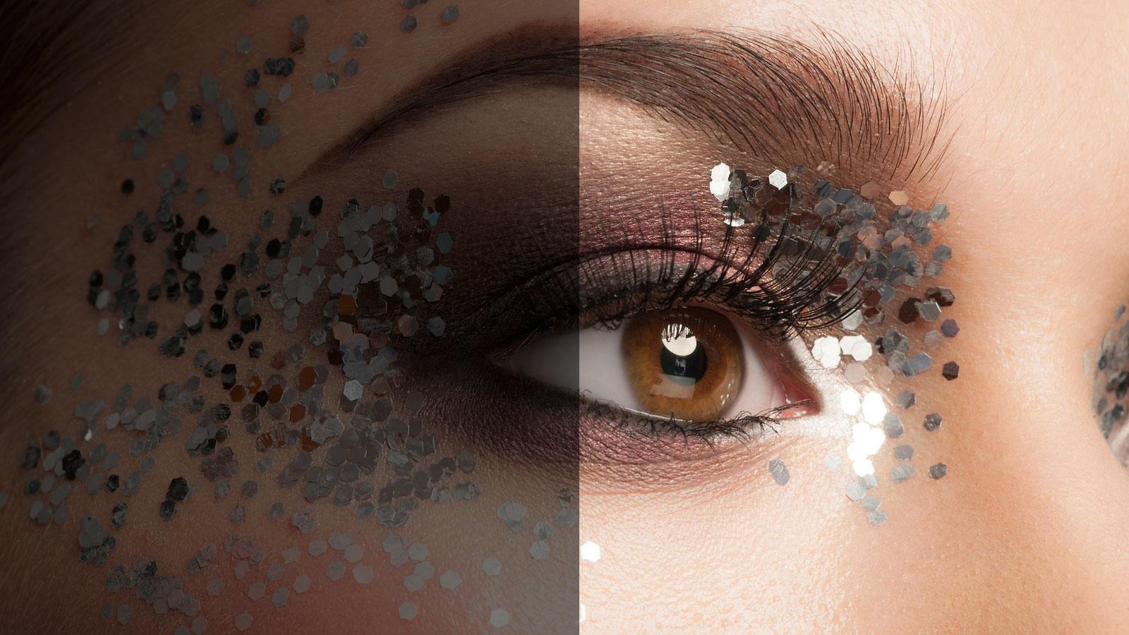 dark shade eye make up