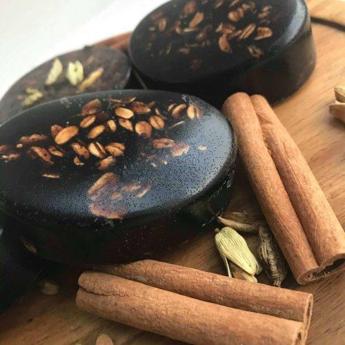 coffee cacao cardamon soap