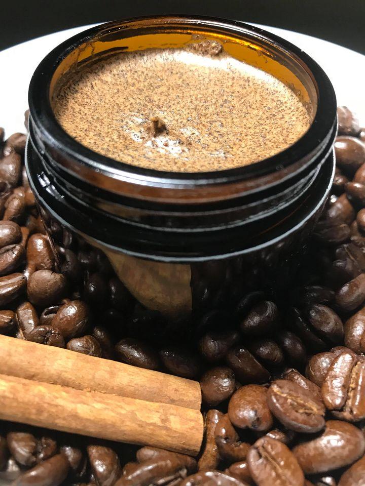 coffee cardamom body scrub