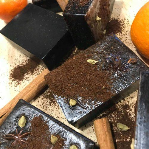 coffee cinnamon clove soap