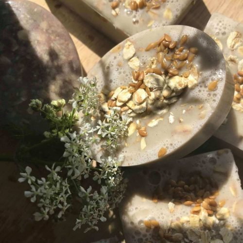 goats milk honey oats soap