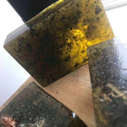 pine sage thyme salt exfoliating soap